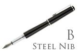 Nemosine Fission Jet Black Broad Point Fountain Pen