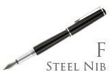Nemosine Fission Jet Black Fine Point Fountain Pen