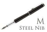 Nemosine Fission Jet Black Medium Point Fountain Pen