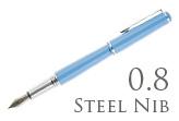 Nemosine Fission Classic Blue 0.8mm Stub Nib  Fountain Pen