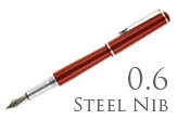 Nemosine Fission Classic Red 0.6mm Stub Nib  Fountain Pen