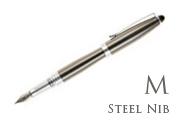 Nemosine Neutrino Gunmetal Medium Point Fountain Pen