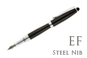 Nemosine Neutrino Jet Black Extra Fine Point Fountain Pen