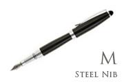 Nemosine Neutrino Jet Black Medium Point Fountain Pen