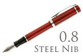Nemosine Singularity Cardinal Red 0.8mm Stub Nib  Fountain Pen