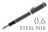 Nemosine Singularity Granite Grey 0.6mm Stub Nib  Fountain Pen