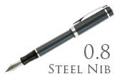 Nemosine Singularity Granite Grey 0.8mm Stub Nib  Fountain Pen