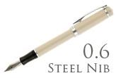 Nemosine Singularity Ivory 0.6mm Stub Nib  Fountain Pen