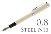Nemosine Singularity Ivory 0.8mm Stub Nib  Fountain Pen
