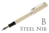 Nemosine Singularity Ivory Broad Point Fountain Pen