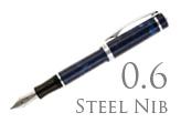 Nemosine Singularity Blue Marble 0.6mm Stub Nib  Fountain Pen