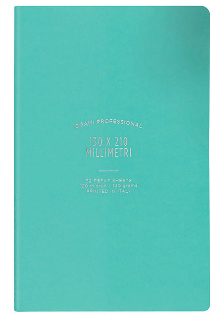 Ogami Softcover Aqua Plain - Small 5 x 8.5  Journal