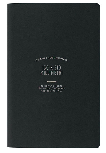 Ogami Softcover Black Ruled - Small 5 x 8.5  Journal