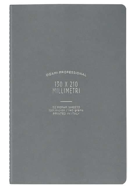 Ogami Softcover Grey Plain - Small 5 x 8.5  Journal