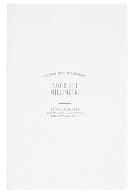 Ogami Softcover White Ruled - Small 5 x 8.5  Journal