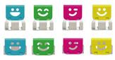 Ohto Slide Clipper Smile Large Vivid  Paper Clip