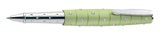 Online Crystal Inspirations Green - Genuine Swarovski Rollerball Pen