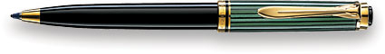 Pelikan Souveran 300 Black/Green GT  Ballpoint Pen