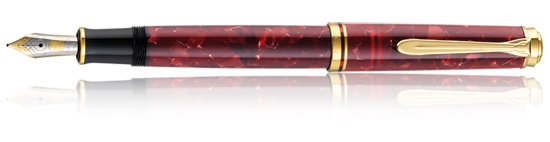 Pelikan Souveran 600 Ruby Red Medium Point Fountain Pen