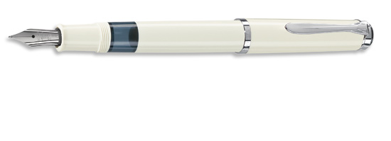 Pelikan Tradition Series 205 White w/ Silver Gift Box Medium Point Fountain Pen