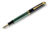 Pelikan Souveran 400 Black/Green GT Broad Point Fountain Pen