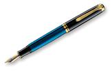Pelikan Souveran 400 Black/Blue GT Fine Point Fountain Pen