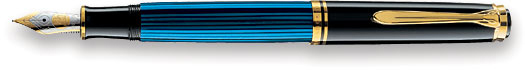 Pelikan Souveran 400 Black/Blue GT Medium Point Fountain Pen