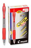 Pilot G2 Premium Red Pack of 12 Extra Fine Point Gel Pen