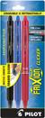 Pilot FriXion Clicker - 3 Pack of Black, Blue & Red  Gel Pen