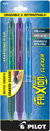Pilot FriXion Clicker - 3 Pack of Green, Purple & Turquoise  Gel Pen