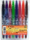 Pilot FriXion Erasable - 8 Pack Assorted Colors .7mm Gel Pen