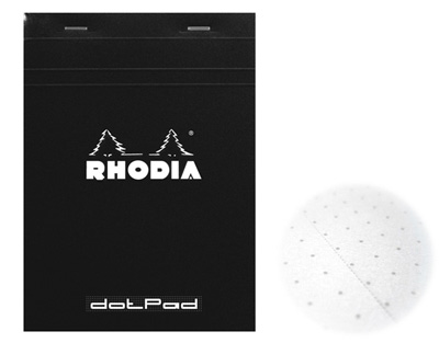 Rhodia Dot Pad Black 8.25 x 12.5  Notebook