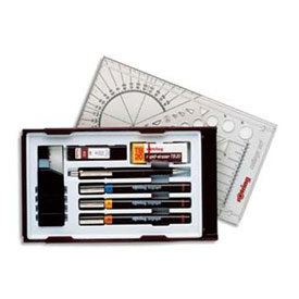 Rotring Isograph College Technical Drawing Pens(3) Lines 0.2 to 0.7mm