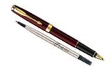 Parker Sonnet Original Red Lacquer GT - Free Refill Rollerball Pen
