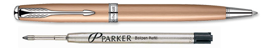 Parker Sonnet Rose Gold with Chrome Trim Ballpoint Pen