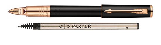 Parker Ingenuity Small Black Rubber PGT - Free Ink Refill Med Pt