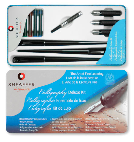 Sheaffer Calligraphy Deluxe Tin  Calligraphy Kit