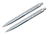 Sheaffer Sentinel Brushed Chrome Plate Finish .7mm Pen & Pencil Set