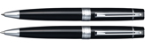 Sheaffer Gift Collection 2 Glossy BLK/Chrome Trim .7mm Pen&Pencil Set