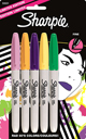 Sharpie Fine 80's Glam Limited Edition - 5 Pack  Marker