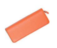 Taccia Leather Classic Orange Double  Pen Pouch