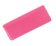 Taccia Leather Carnation Pink Double  Pen Pouch
