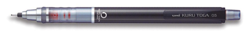 Uniball Kuru Toga Black Body Auto Lead Rotating Mechanical .5mm Pencil