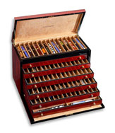Venlo Triple Burlwood Collection 100 Pen  Case