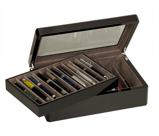 Venlo Carbon Fiber Collection 20 Pen  Case