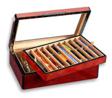Venlo Triple Burlwood Collection 20 Pen  Case