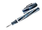 Visconti Divina Elegance Imperial Blue Oversized Stub Nib Fountain Pen