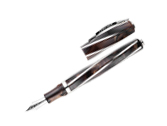 Visconti Divina Elegance Royal Brown Medium Size Fine Pt Fountain Pen