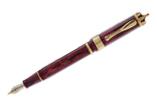 Visconti 60th Anniversary Diamond Jubilee Sparkling Burgundy Stub Nib  Fountain Pen