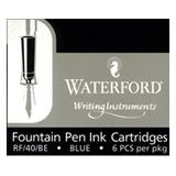 Waterford Refills Blue Box of 6  Fountain Pen Cartridge